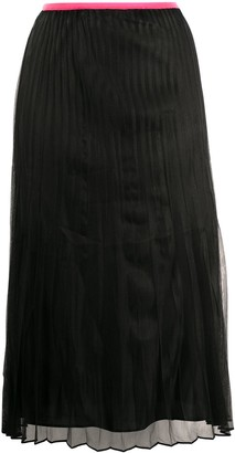 Helmut Lang Pleated Pull-On Skirt