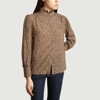 Suncoo Brown Viscose Lena Shirt - 1   viscose   brown - Brown/Brown