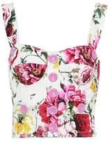 Dolce & Gabbana Floral jacquard bustier top