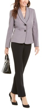 Le Suit Shawl-Collar Jacket Pantsuit