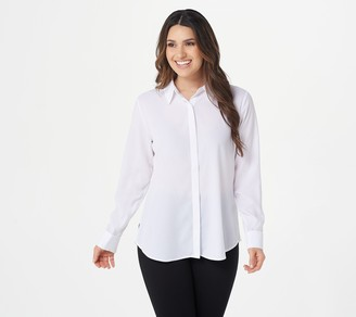 StyleList by Micaela French Cuff Shirt with Hidden Placket