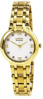"""Citizen Women's EM0132-59A """"Bella"""" Stainless Steel Eco-Drive Watch with Diamonds"""