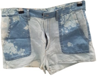 Etoile Isabel Marant Blue Cotton Shorts for Women