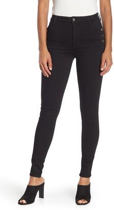 Elan International Button Pocket Skinny Jeans