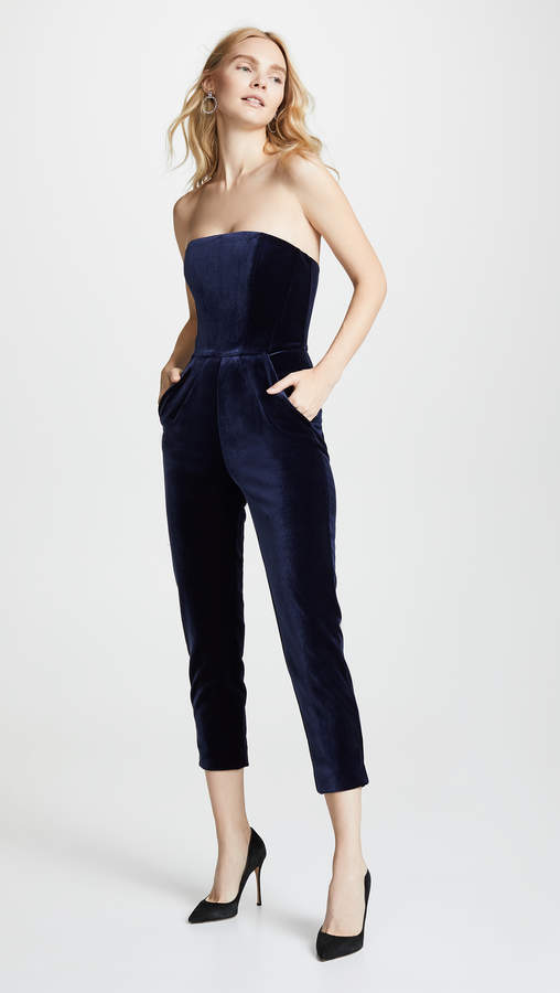4d637227ec92 Navy Strapless Jumpsuits - ShopStyle