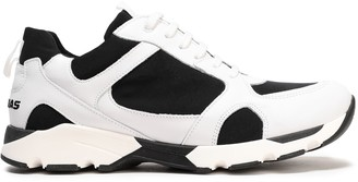 Joshua*S Joshua*s Color-block Leather And Stretch-knit Sneakers