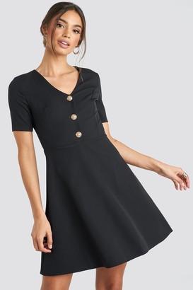 Trendyol V-Neck Front Button Mini Dress