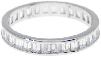 Sterling Forever Stackable Sterling Silver Baguette CZ Band Ring