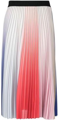 Karl Lagerfeld Paris Rainbow Pleated Skirt