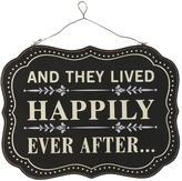 """Home Decorators Collection 11.75 in. H x 15.75 in. W """"Happily Ever After"""" Wall Art"""