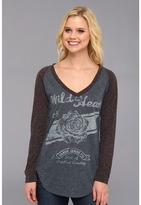Silver Jeans Co. - Long Sleeve V-Neck Top (Blue) - Apparel