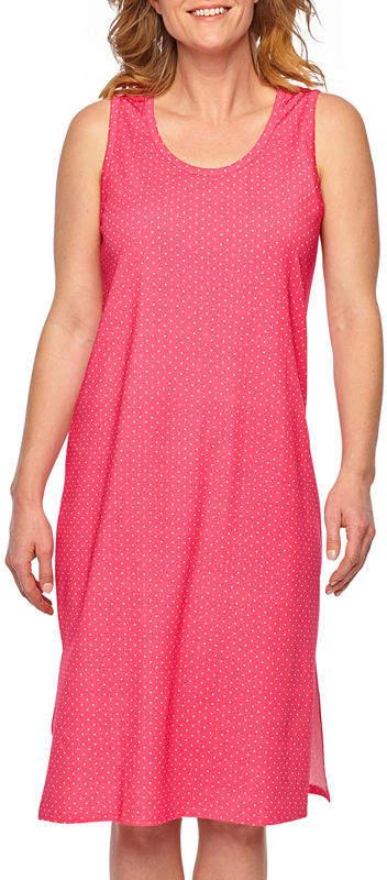 Womens Nightgown Sleeveless Round Neck