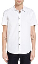 John Varvatos Men's Slim Fit Snap Front Sport Shirt