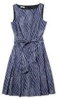 L.L. Bean Women's Signature Poplin Dress, Net Print