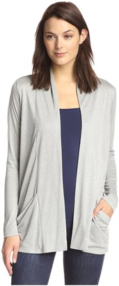 James & Erin Women's Slouch Pocket Cardigan