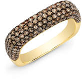 Anne Sisteron Champagne Diamond Square Ring in Yellow Gold