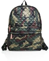 M Z Wallace Metro Camo Quilted Nylon Backpack