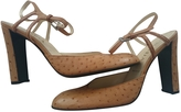 Prada Beige Exotic leathers Sandals