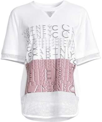 adidas by Stella McCartney Mesh Logo Tee