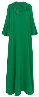 Embellished stretch-silk gown
