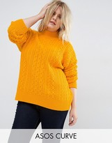 Asos Sweater with Cable Stitch & High Neck