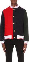 Thom Browne Funmix Wool Varsity Jacket