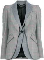 Alexander McQueen Prince Of Wales double layer blazer