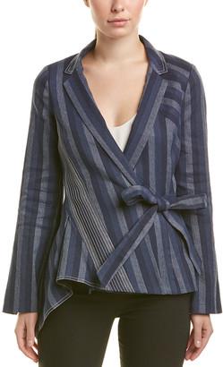 Carolina Herrera Silk-Lined Linen-Blend Blazer
