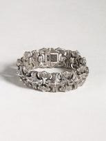 John Varvatos Sculpted Sterling Silver Bracelet with Red Topaz