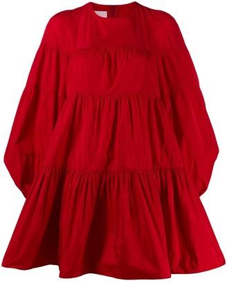 Giamba tiered shift mini dress