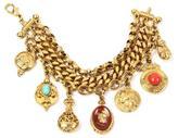Ben-Amun Royal Charm Sovereign Cameo Row Gold Bracelet