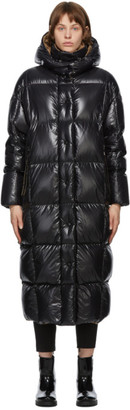 Moncler Black Down Parnaiba Long Coat