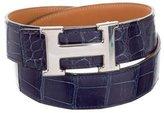 Hermes Reversible Alligator Belt Kit