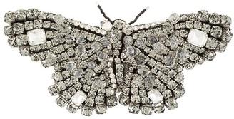 Rochas Crystal Butterfly Brooch