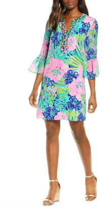 Lilly Pulitzer Elenora Floral Silk Shift Dress