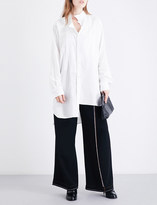 Loewe Asymmetric-collar oversized cotton shirt