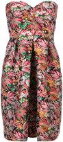 MSGM floral bustier dress