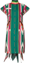 Sacai printed dress - women - Leather/Polyester - 4
