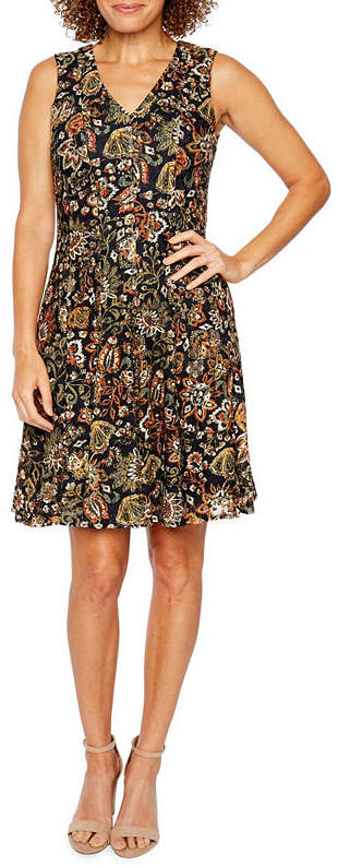 Chetta B BE BY Be by Sleeveless Lace Floral Fit & Flare Dress