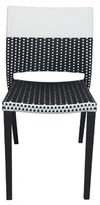 Chloé Stacking Patio Dining Chair Source Contract Frame Color: Black