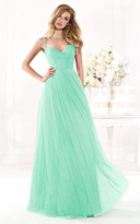 Tarik Ediz Ruched Bodice Evening Gown 92442