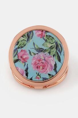 francesca's Floral Compact Mirror