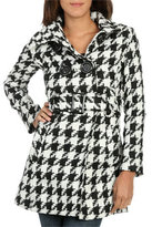 Wet Seal WetSeal Belted Houndstooth Trenchcoat Ivory