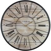 Sorbus Metal & Solid Wood Wall Clock