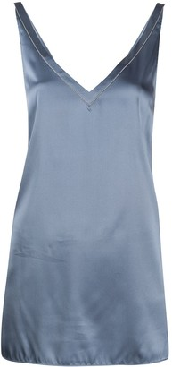 Brunello Cucinelli Metallic Sleeveless Blouse