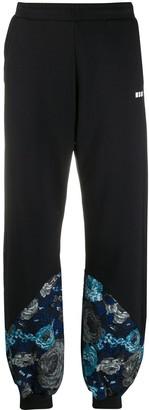 MSGM Wide Floral Hem Trousers