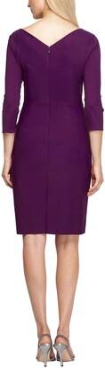 Alex Evenings Embellished Ruched Sheath Dress