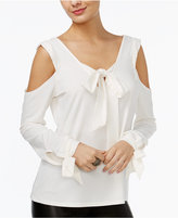 GUESS Tie-Detail Cold-Shoulder Top