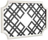 Scallop Framed Monogram Pinboard, Black Ribbon Geo, Horizontal Complete