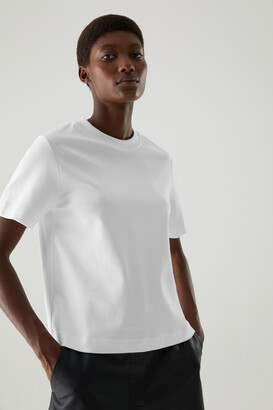 Cos Slightly Cropped Jersey T-Shirt